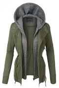 Orolay Women's Thickened Down Jacket Green M.