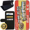 Flip Wallet Case for Galaxy S7 (Ocean Drive Vintage Postcard) with Adjustable...