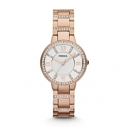 Fossil Women's ES4145 Riley Multifunction Two-Tone Stainless Steel Watch – Women's Watches Best Price