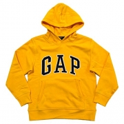 Gap Boys Fleece Arch Logo Pullover Hoodie (Medium, Yellow)