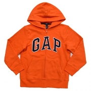 Gap Boys Fleece Arch Logo Zip Up Hoodie (X-Large, Orange)