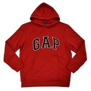 GAP Mens Fleece Arch Logo Pullover Hoodie (True Red, Medium) [Apparel]