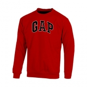 Gap Men's Fleece Sweatshirt Arch Logo (Red, Medium)