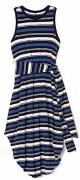Gap Navy Blue White Stripe Wrap Belt Knit Dress XL