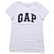 Gap Womens Arch Logo Crew Neck Graphic T-Shirt (M, White)