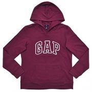 GAP Womens Fleece Arch Logo Pullover Hoodie (M, Maroon)