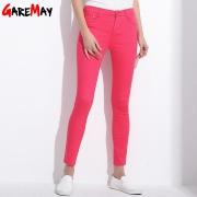GAREMAY Women's Candy Pants Pencil Trousers 2017 Spring Fall Khaki Stretch Pants For Women Slim Ladies Jean Trousers Female 1010 – Women's Capris Best Price