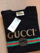 Gucci Polo Shirt, Mens Brown Short Sleeve Polo T- Shirt GG Print All Sizes (M)