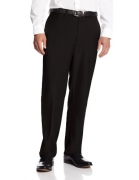 Haggar Men's Repreve Stria Hidden Expandable Waist Plain Front Dress Pant, Black,29×30