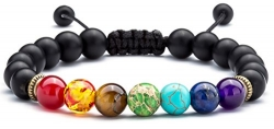 REVOLIA 10Pcs Mens Womens Leather Bracelets Wooden Beaded Bracelets Braided Cuff