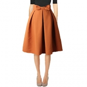 Face N Face Women's High Waisted A line Street Skirt Skater Pleated Full Midi Skirt Large Navy