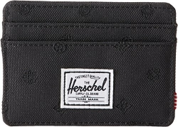 Herschel Supply Co. Unisex Charlie RFID Black Paisley Embroidery One Size.
