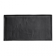 Hunter Allen Textured Bison Leather Checkbook Cover – Black – Mens Wallet Best Price