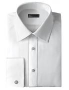Ike Behar NYC Men's Cotton Twill Dress Shirt | Medium Blue 16 1/2 x 36/37