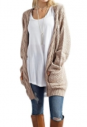 Lark & Ro Women's 100% Cashmere 12-Gauge Textured Front Deep V-Neck Pullover, Plum, Medium