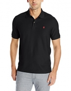 IZOD Men's Advantage Performance Solid Polo, Black, X-Large