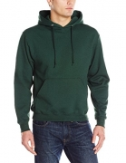 Jerzees Men's Adult Pullover Hooded Sweatshirt X Sizes, Forest Green, XX-Large