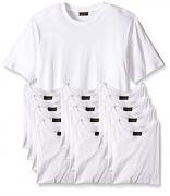 Joseph Abboud Men's 6 or 12 Pack Crew Neck T Shirts (Medium 38-40, 6 Pack – White)
