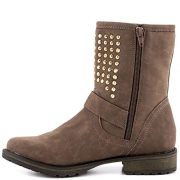 Just Fab Womens leon Closed Toe Ankle Fashion Boots, Brown, Size 7.0.