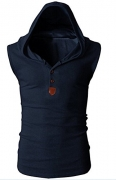 kaured Men's Quilted Freezer Vest Navy BlueUS 2X-Large