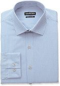 Kenneth Cole Reaction Men's Unlisted Slim Fit Check Spread Collar Dress Shirt,...