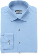 Kenneth Cole Reaction Men's Unlisted Slim Fit Solid Spread Collar Dress Shirt, Light Blue, 16″-16.5″ Neck 34″-35″ Sleeve