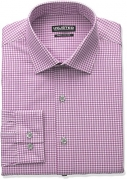 Kenneth Cole Reaction Unlisted Men's Slim Fit Solid Spread Collar Dress Shirt, White, 16″-16.5″ Neck 34″-35″ Sleeve.