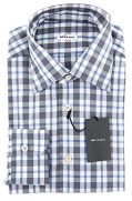 Kiton New Gray Plaid Slim Shirt