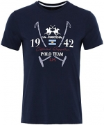 La Martina Men's Slim Fit Irvine Shirt L Navy.