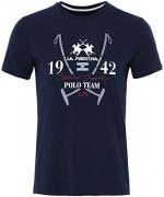 La Martina Men's Slim Fit Irvine Shirt L Navy.