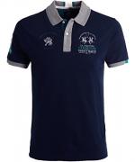 La Martina Men's Slim Fit Creighton Shirt Blue M