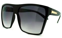 Large Oversized Retro Fashion Square Flat Top Sunglasses (Black-Gold) – Men's Sunglasses Best Price