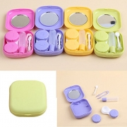 Lucrative shop 1 pc hot selling Pocket Mini Contact Lens Case Travel Kit Mirror Container