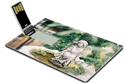 Luxlady 32GB USB Flash Drive 2.0 Memory Stick Credit Card Size old style angel statue vintage film scaned IMAGE 28684247