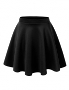 MBJ WB211 Womens Basic Versatile Stretchy Flared Skater Skirt S BLACK – Womens Skirt Best Price