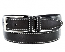 Mens 100% American Bison Leather Dress Belt Made in USA 1 1/8″ Wide(Black,36) – Men's Wallet Best Price