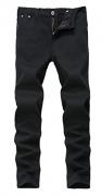 Men's Black Skinny Slim Fit Ripped Distressed Stretch Denim Jeans