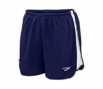 Men's Curved Side Panel Short (Large, Navy / White)