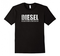 Mens Diesel Because Electric Cant Roll Coal Truck Shirt Medium Black.
