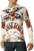 Men's Ivory Traitor Long Sleeve Tattoo Shirt