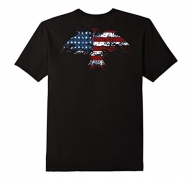 Mens Patriotic Shirt Eagle American Shirt – Veteran T shirt Gift Small Black