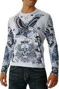 Men's Rain King of the Dead Long Sleeve Tattoo Shirt