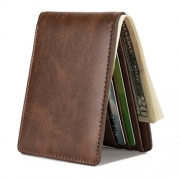 Wallet for Men-Genuine Leather RFID Blocking Bifold Stylish Wallet With 2 ID Window (Coffee) – Mens Wallet Best Price