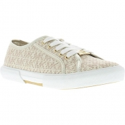 Michael Kors Girl's IMA Boerum Fashion Sneaker Vanilla 4