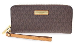 Michael Kors Jet Set Continental Wristlet – Brown