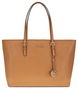 Michael Kors Jet Set Medium Travel Saffiano Leather Tote – Acorn