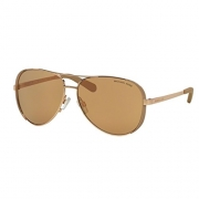 Michael Kors MK5004 1017R1 Gold Chelsea Aviator Sunglasses Lens Category 2 Lens