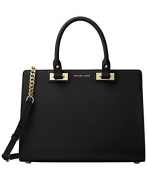MICHAEL Michael Kors Quinn Large Satchel (Black)