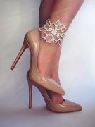 Womens Christian louboutin Choca Spikes Heeled Sandals (6.5 US 37 EU 23.5cm).