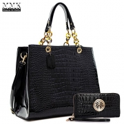 FIGESTIN Women Cowhide Genuine Leather Designer Handbags Purse Ladies Trapeze Top Handle Satchel Bag.
